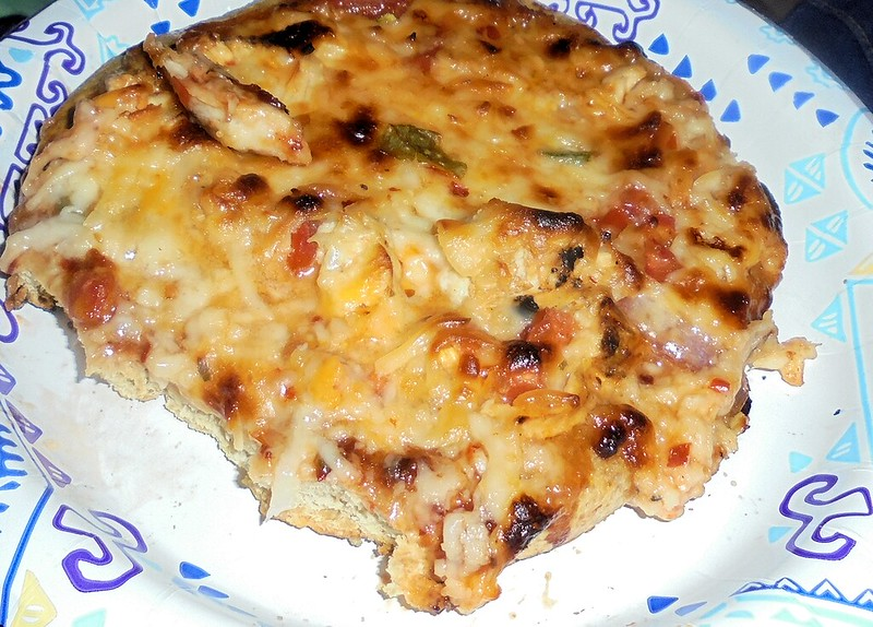 Image: Low Carb Thai Chicken Pizza