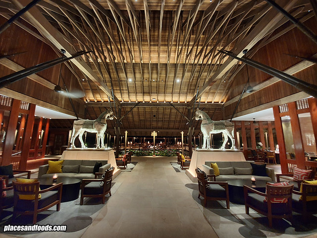 the datai langkawi lobby at night