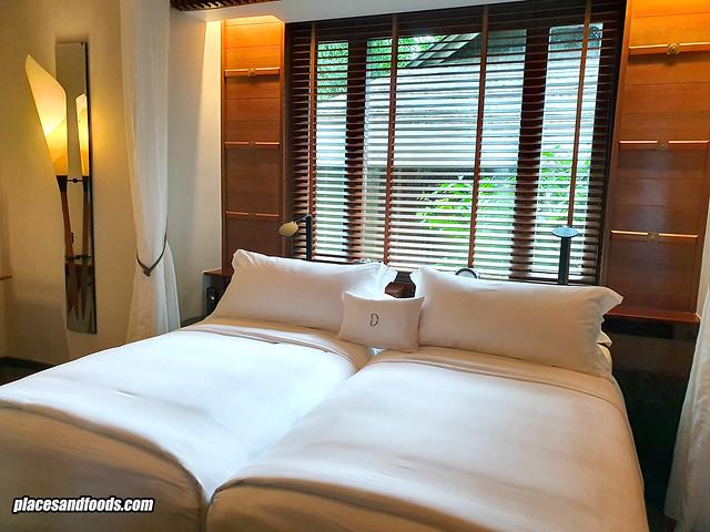 datai rainforest villa bed