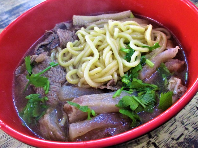 June Cafe beef soup with yellow noodles