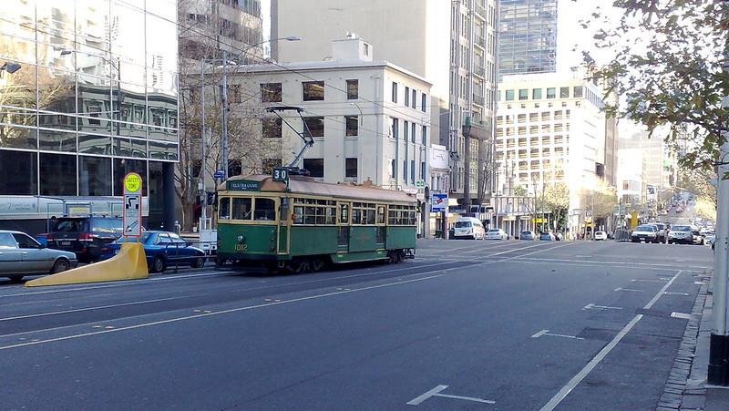 W-class tram in La Trobe Street (July 2010)