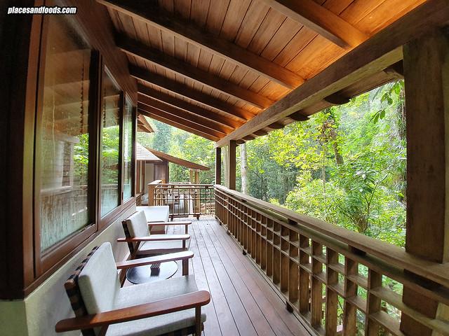 datai rainforest villa balcony