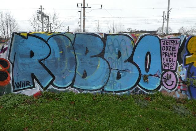 Robbo graffiti, Markfield Park, Tottenham