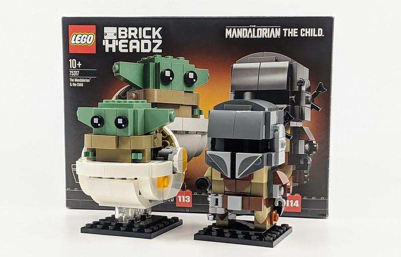 75317: The Mandalorian & the Child BrickHeadz Review