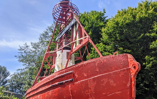 The rusting Nelson Bell-Boat Buoy at Preston Docks | by Tony Worrall