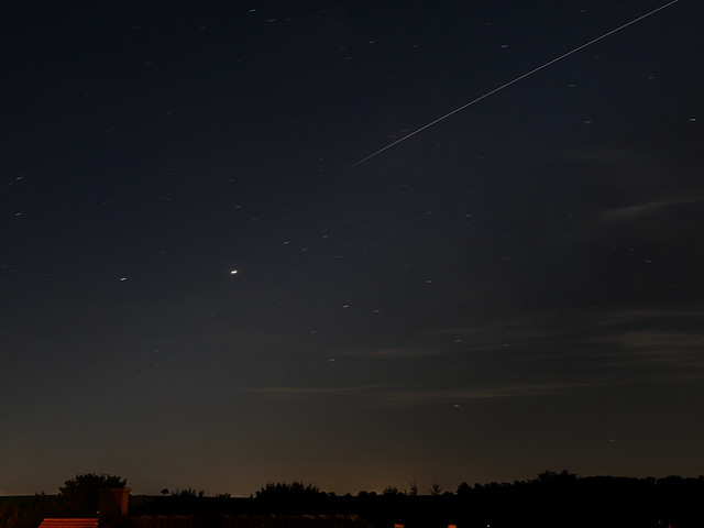 ISS with Jupiter and Saturn