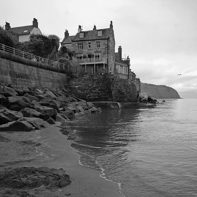 House on the sea B&W