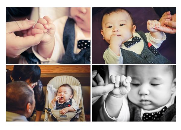 赤ちゃん パパとママと手をつないで お手てのアップ写真
