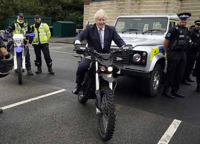 Boris Johnson North Yorkshire Police visit