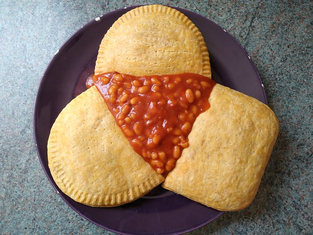 patties and beans