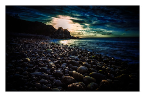 jurassic color long sea longexposure colour dawn rocks dorset sunrise pebbles nikon sky light churchopecove coast waves d810 england unitedkingdom