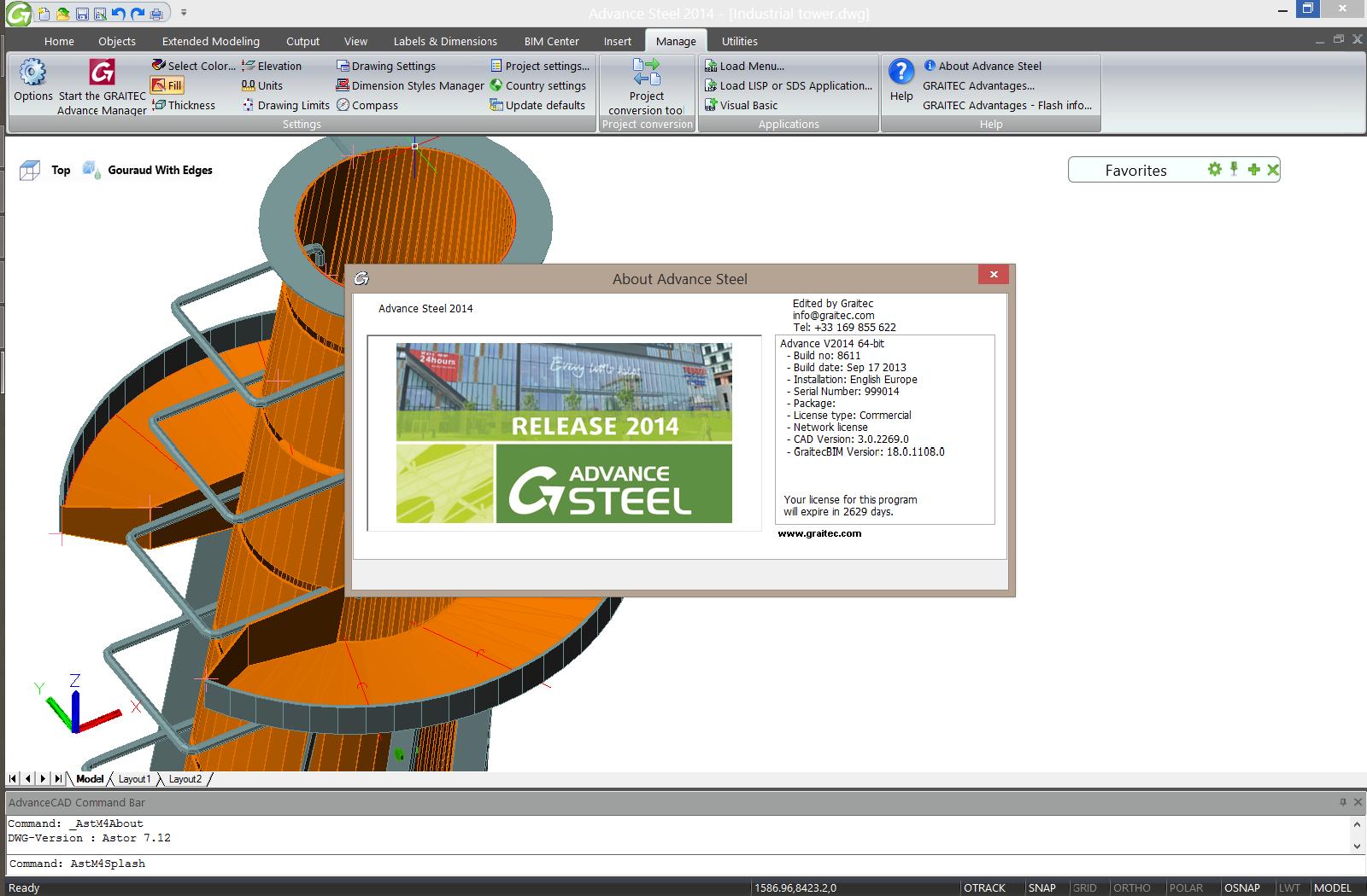 Working with GRAITEC Advance steel 2014 full