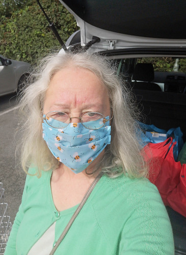 Selfie in face mask