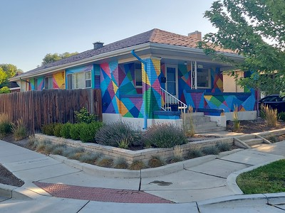 Jauntily painted house, Williams Avenue, Salt Lake City