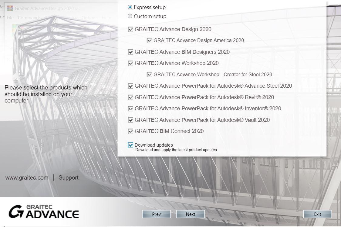 Install Graitec Advance Design 2020 full