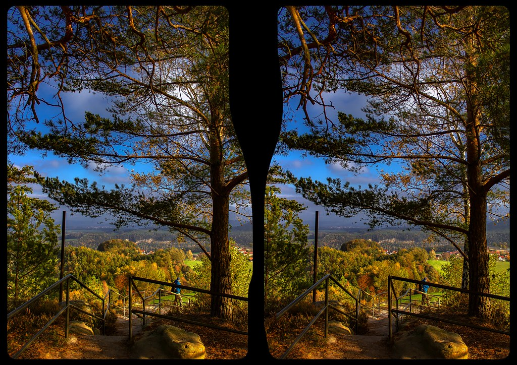 Rauenstein lookout 3-D / CrossView / Stereoscopy