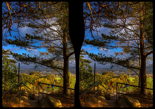 Rauenstein lookout 3-D / CrossView / Stereoscopy