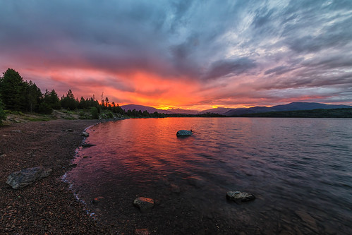 sunrise dawn daybreak clouds mountains lakedillon dillonreservoir colorado landscape