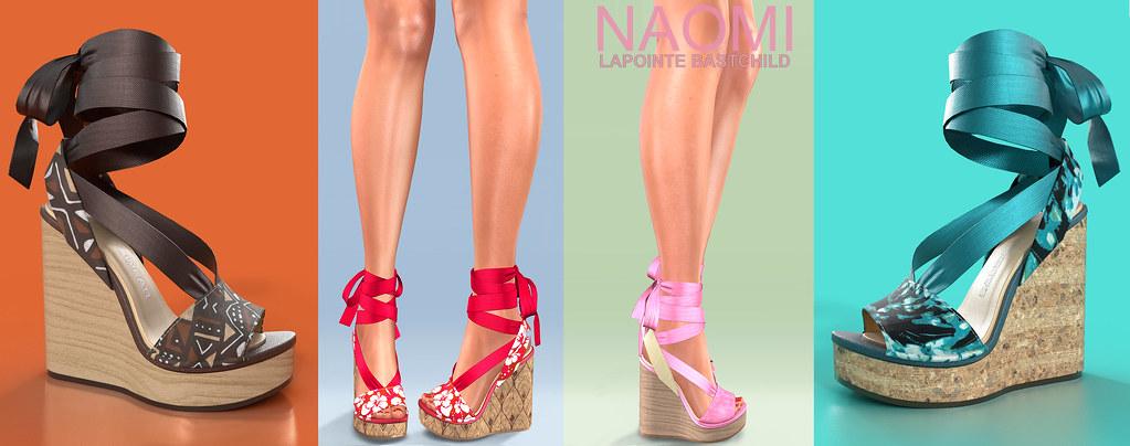 L&B @ FAMESHED Aug 2020 – Naomi Sandals!