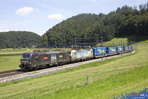 193 712 + Re 475 407 . BLS Cargo . 43543 . Burgdorf . 18.07.20.