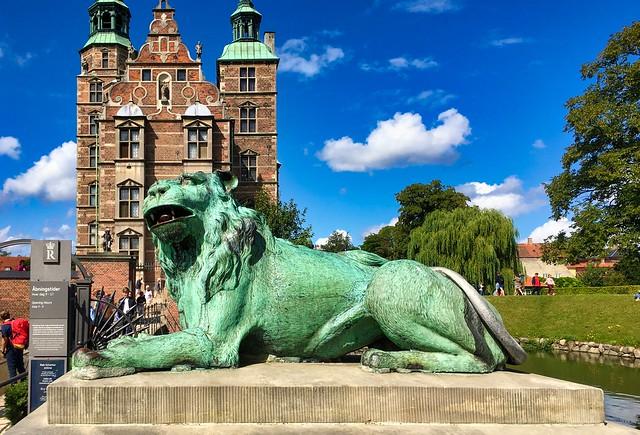 Resting lion at Rosenborg Castle, Copenhagen