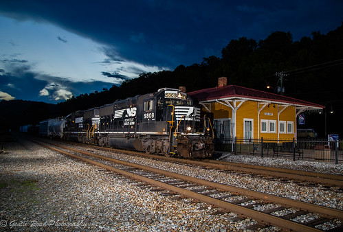 old fort north carolina train sunset dark night depot station southern railway norfolk