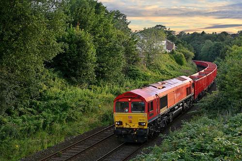 dta1135 uk united kingdom gb great britain england nikon z7 train railway railroad july 2020 disley dbcargo class66 66152 6h53 ashburys dowlow sunset dusk red sky freight