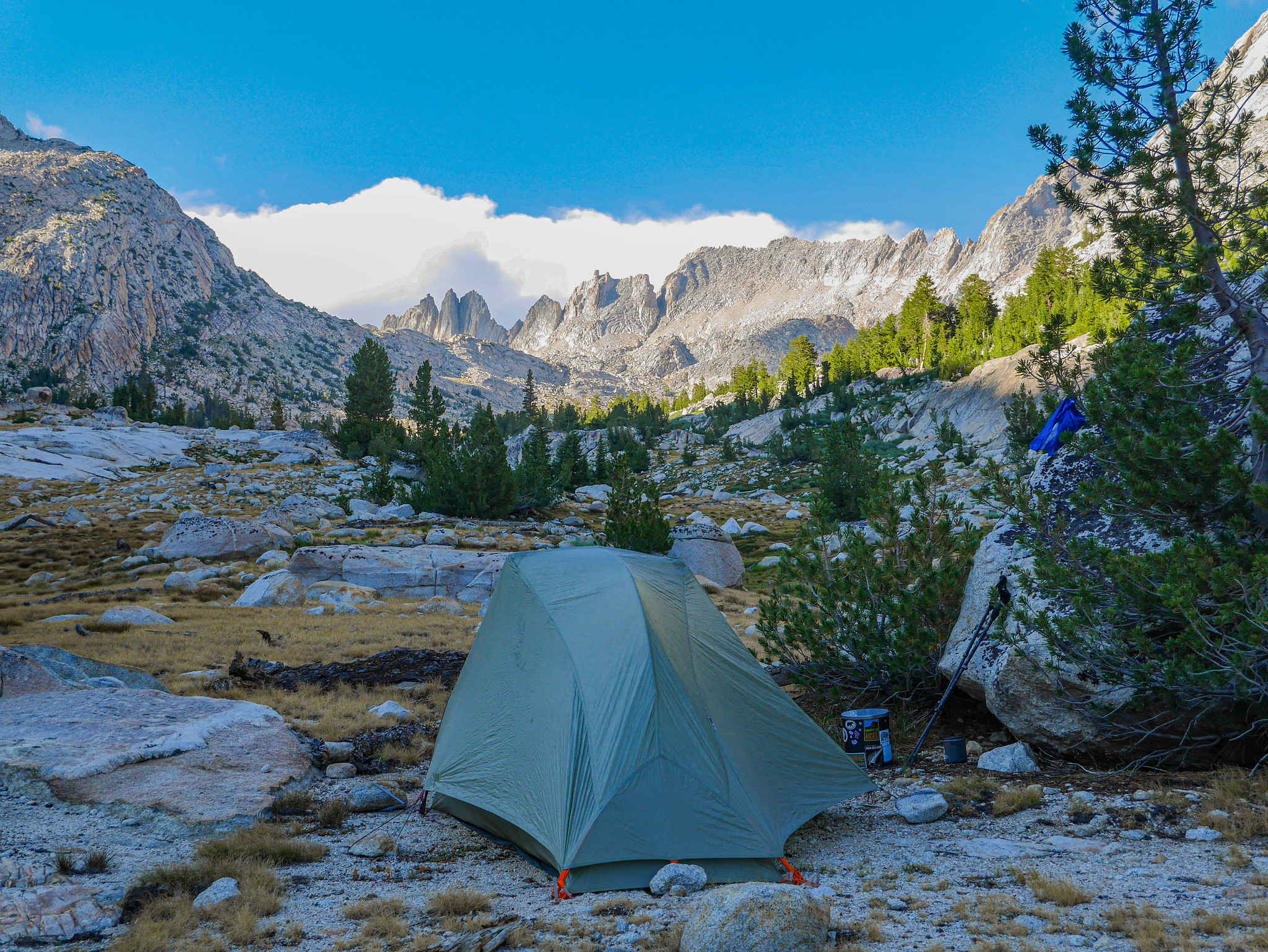 Incredible campsite in Matterhorn Canyon