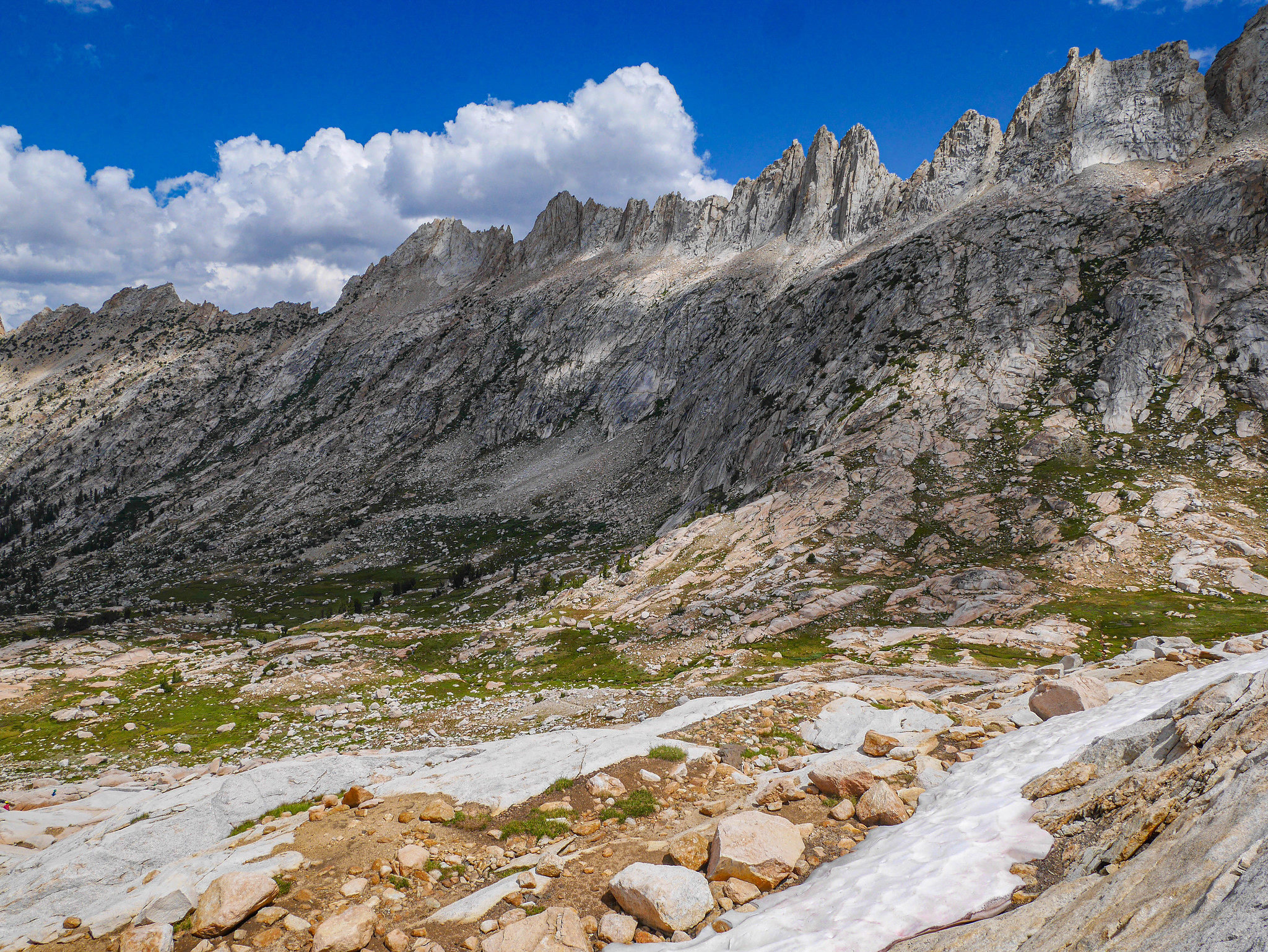 Sawtooth Ridge from Burro Pass