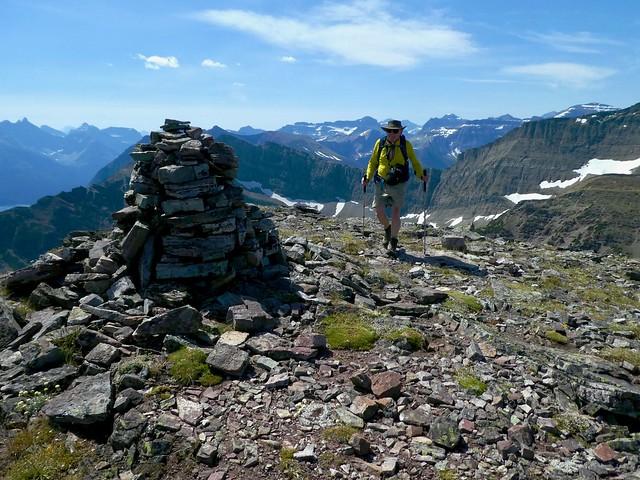 Bertha Peak Summit Scramble -  Ben arrives at the summit