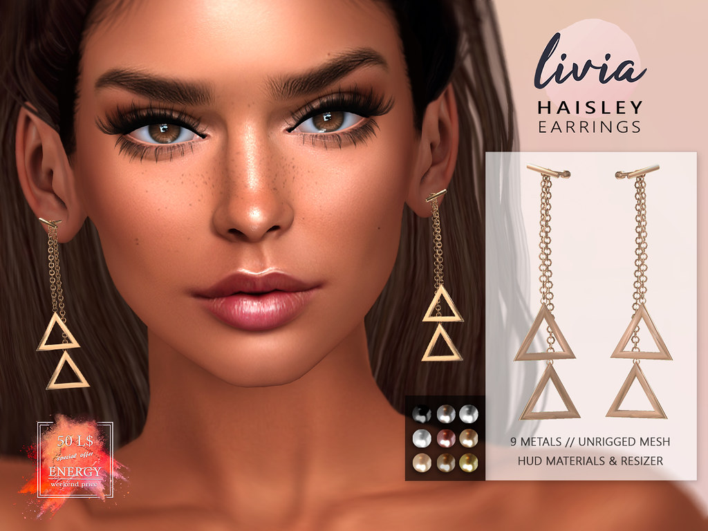 LIVIA // Haisley Earrings [50L ENERGY]