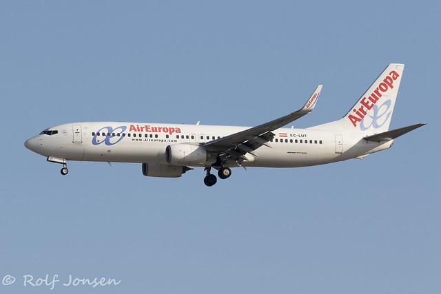 EC-LUT Boeing 737-800 Air Europa Barcelona Airport LEBL 13.08-19