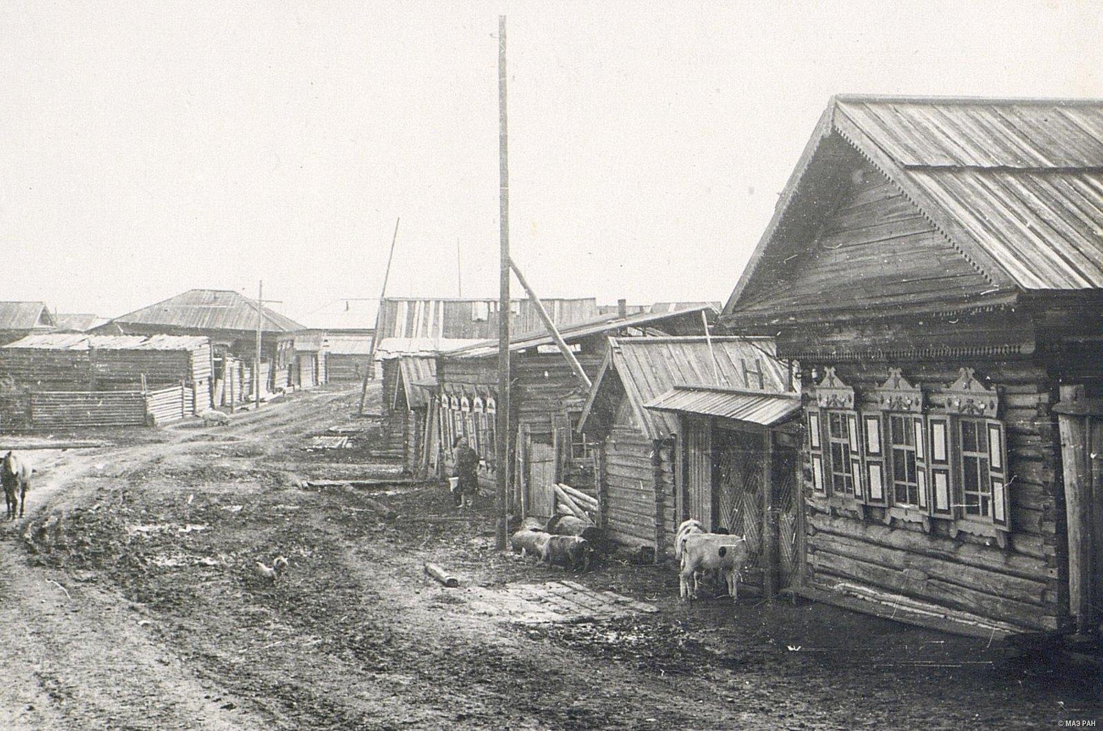 Улица в деревне Кобляково