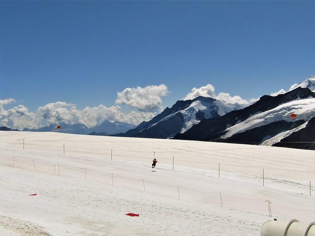 snow park at the Jungfraujoch in Switzerland