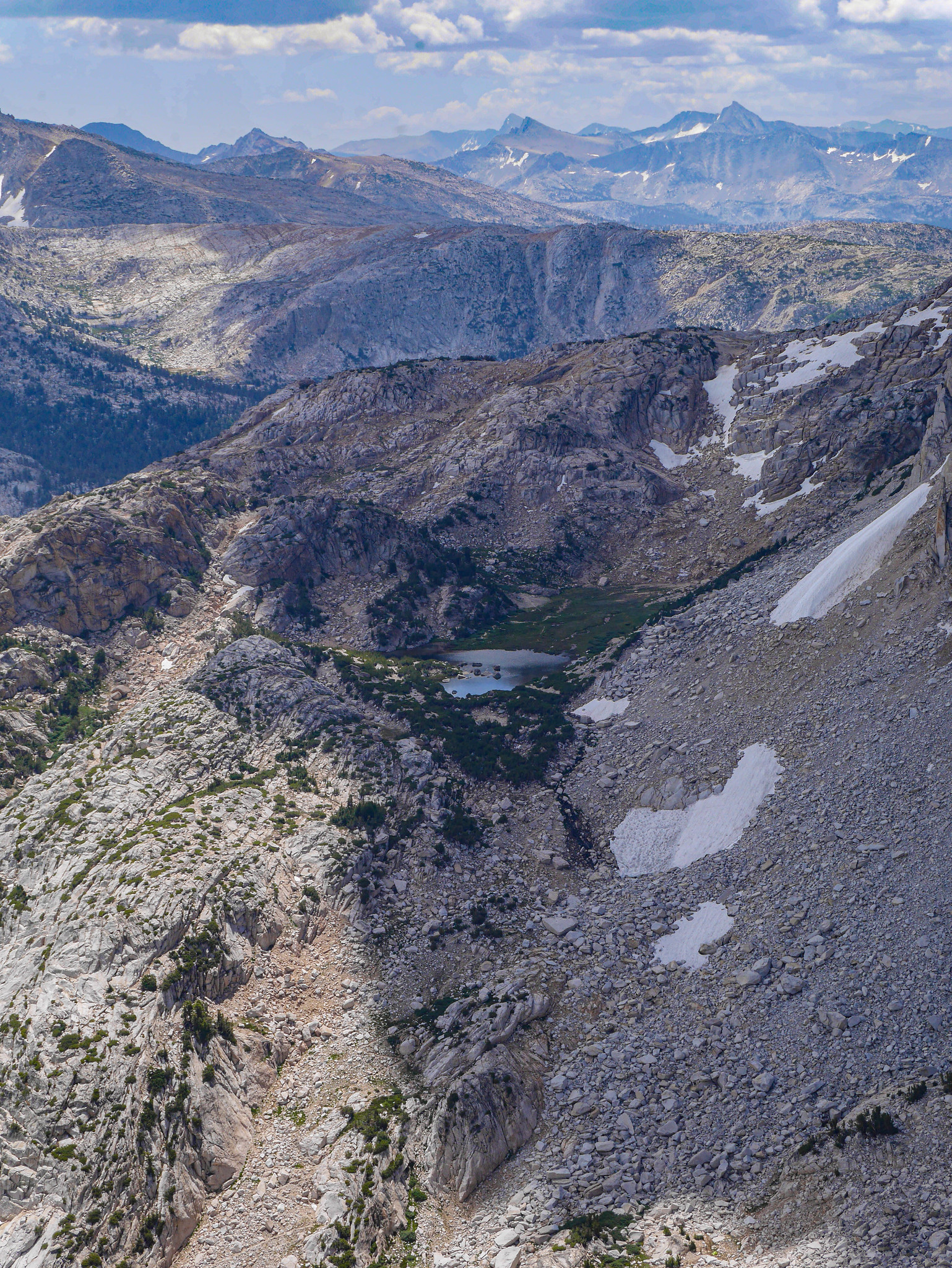 Mule Pass, Burro Pass, Yosemite high country as seen from Crown Point Peak