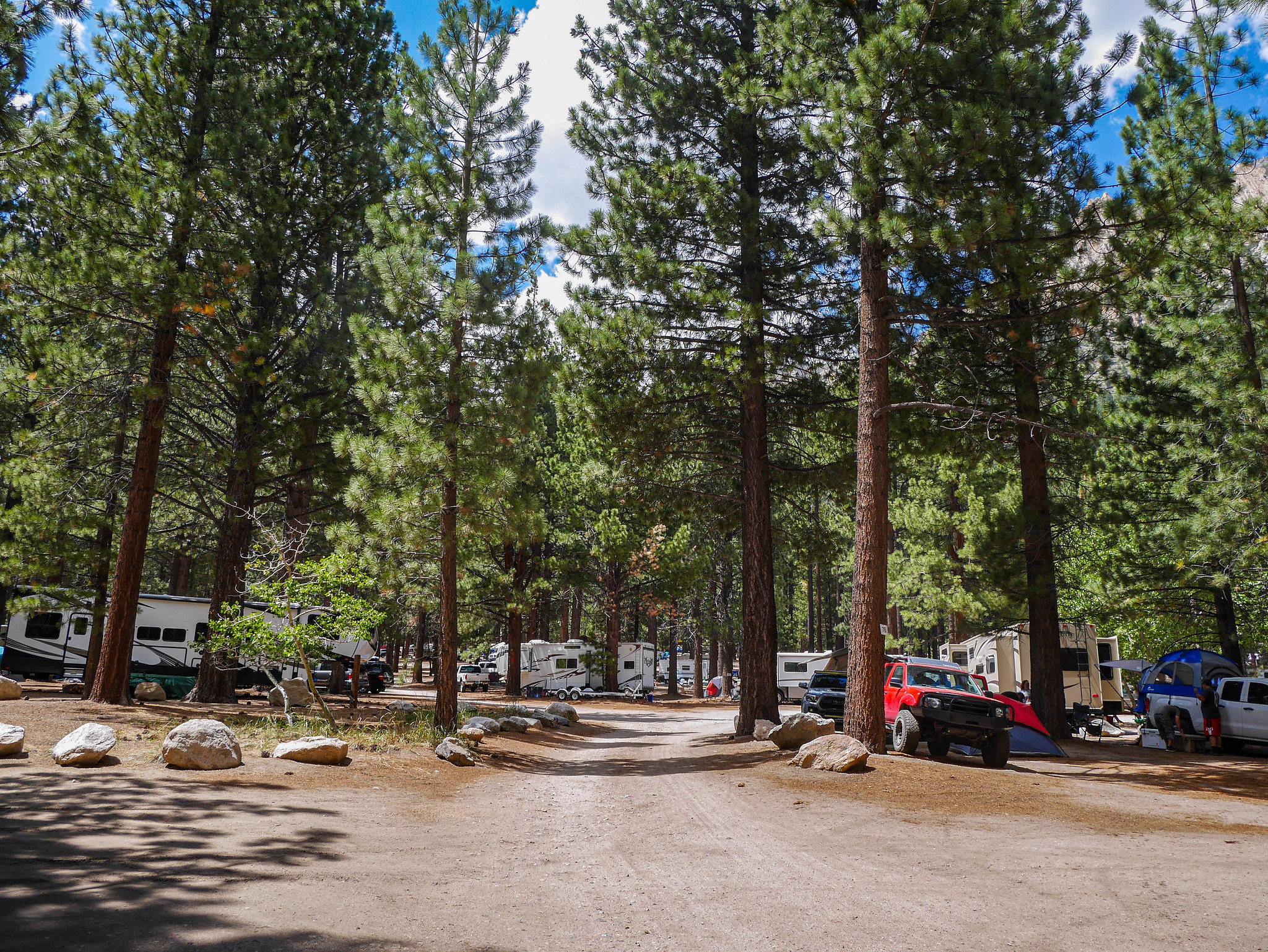 A city of RVs awaits at Twin Lakes campground