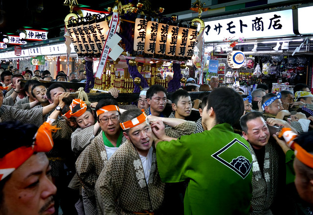 Sanja Festival participant.Asakusa.