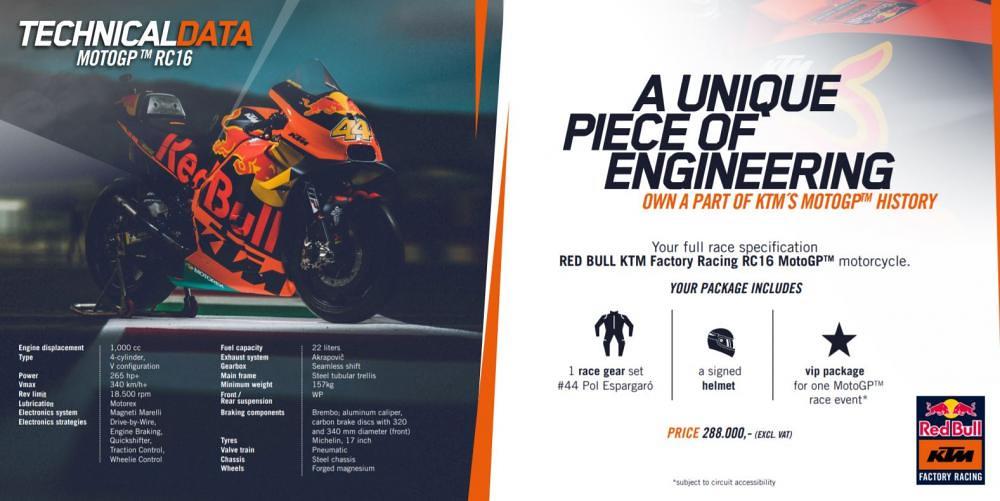 KTM RC16 MotoGP Package