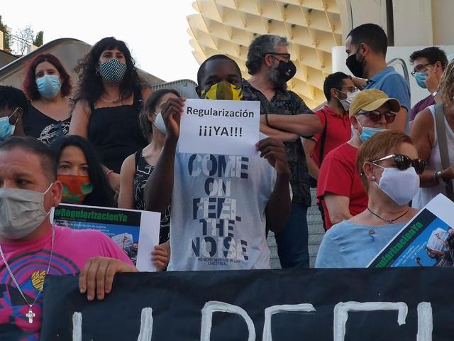 Adelante Sevilla - RegularizacionYa - Personas migrantes
