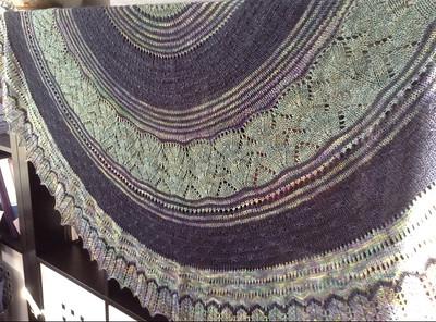 Diane (ladi-di) knit this beautiful Stillness Shawl MKAL by Helen Stewart!