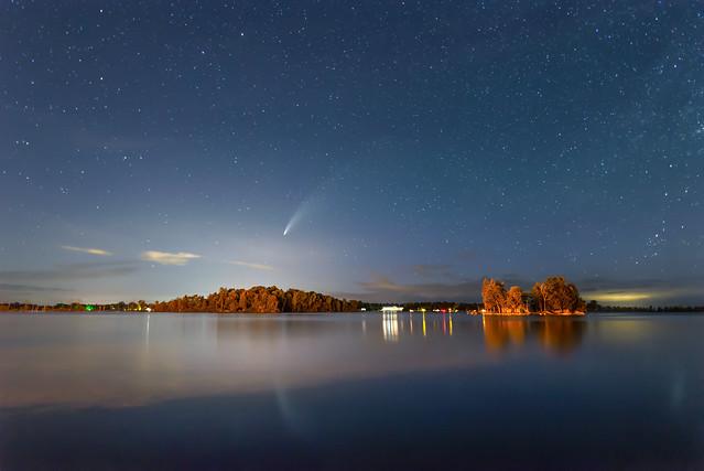 Comet Over Sawyer Harbor