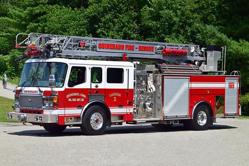 ct fire thompson connecticut truck quinebaug alf american lafrance ladder quint