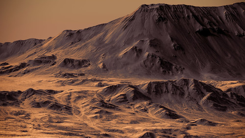 Mojave Crater Wall - Mars