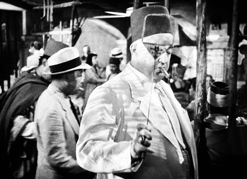 Signor Ferrari (Sydney Greenstreet) and his fly flap in  The Blue Parrot - Casablanca (Michael Curtiz - 1942) | by piwiyan
