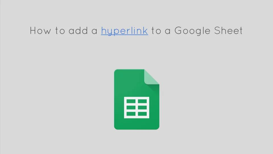 How to hyperlink to Google Sheets