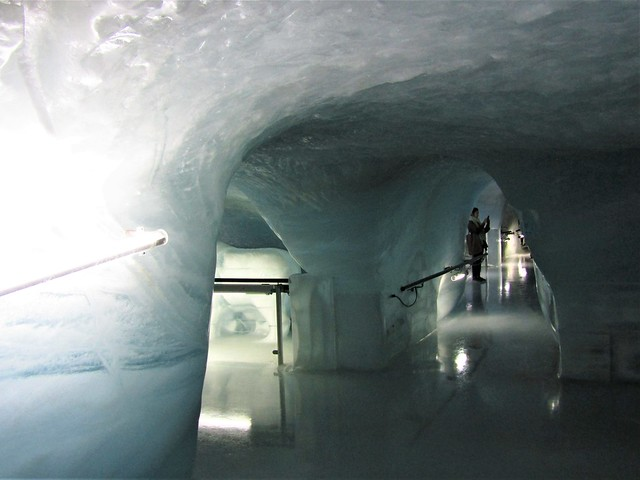 Ice Palace, ice cave at the Jungfraujoch in Switzerland