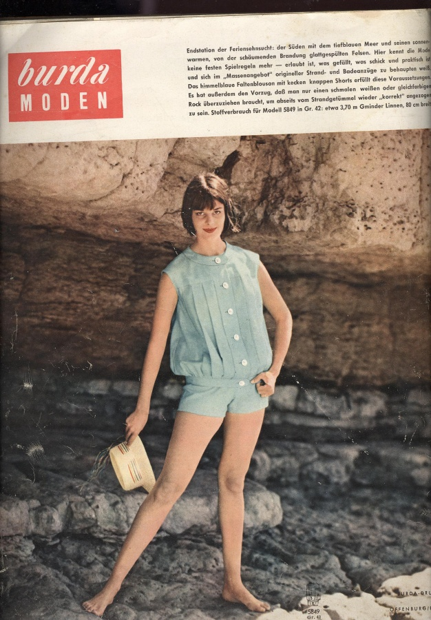 Burda Moden 5/1959, sewing patterns, retro, vintage, summer
