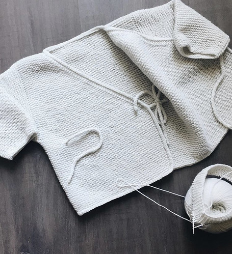 Sonia (@soniabknits) finished this darling Garter Stitch Baby Cardigan by Joji Locatelli (her first pattern). She added I-cord ties and all her edges...and now there is a matching hat and booties too!