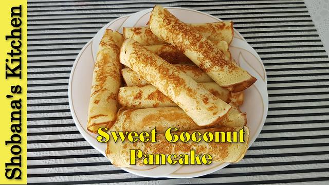 Srilankan Sweet Coconut Pancake / சுருள் ஆப்பம் / Coconut Stuffed Sweet Pancake / Shobanas Kitchen