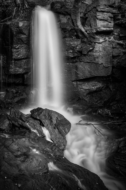 Waterfall amongst the ruins